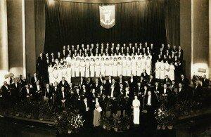 Mario Paci conducting Haydn's Creation, Jan 14 1936 at Grand Cinema © Shanghai Symphony Orchestra