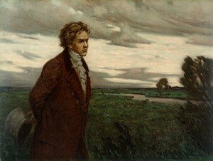 Beethoven on a Walk by Berthold Genzmer