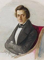 Portrait of Frédéric Chopin by Maria Wodzińska