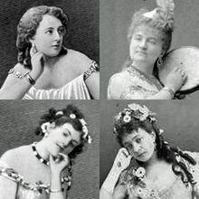 Offenbach's leading ladies - Marie Garnier, Zulma Bouffar, Lea Silly, Rose Deschamps