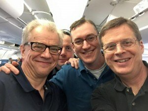 Osmo Vänskä with two orchestra clarinetists Tim Zavadil and David Pharris