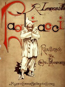 Original Score Cover of Pagliacci
