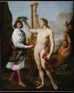 Sacchi : Marc'Antonio Pasqualini Crowned by Apollo (1640) (Metropolitan Museum of Art, New York)