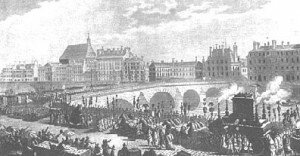 Voltaire's funeral procession
