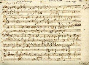 Mozart's manuscript