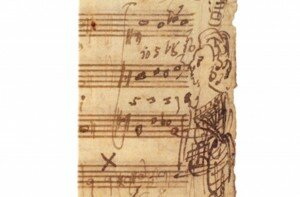 Mozart's manuscript, portrait of Barbara Ployer