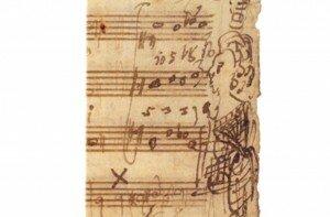Mozart's manuscript, portrait of Barbara Ployer