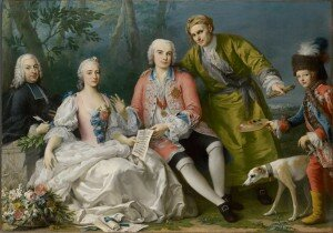 Amigoni: The singer Farinelli and friends (c. 1750-1752)