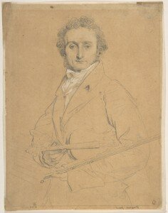 Ingres: Paganini (between 1818 and 1831) embellished counterproof (Metropolitan Museum of Art)