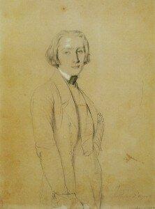 Ingres: Franz Liszt (1839) (Richard Wagner Stiftung, Bayreuth)