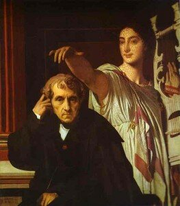 Ingres: Luigi Cherubini and the Muse of Lyric Poetry (1842) (Louvre, Paris)