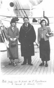 Jeanne, Marcel, Marguerite, year 1937