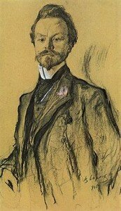 Portrait of Konstantin Balmont by Valentin Serov