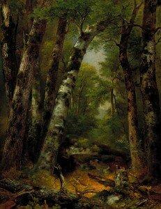 Asher B. Durand: Woodland Glen (ca. 1859) (Smithsonian American Art Museum)