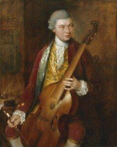 Gainsborough: Carl Friedrich Abel (1765)