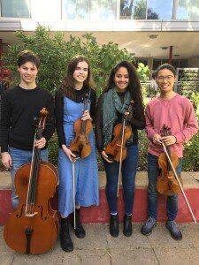 Adelaide Youth Orchestra String Quartet at Flinders University