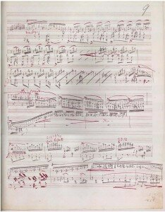 Manuscript of the Sonata