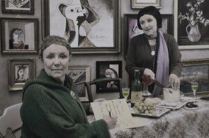 Gertrude Stein and Alice B. Toklas,27 rue de Fleurus (handcoloured)