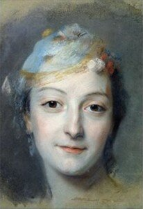 La Tour: Study for the portrait of Marie Fel (1757)