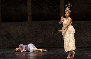 Idomeneo 2019: Nicole Chevalier (Elettra), Brittne Mahealani Fuimaono (Dancer) © SF/Ruth Walz