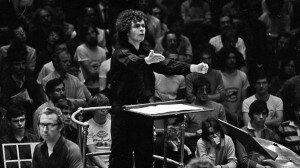 Sir Simon Rattle pictured at the BBC Proms in 1981