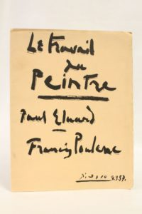 first edition cover of Le Travail du Peintre