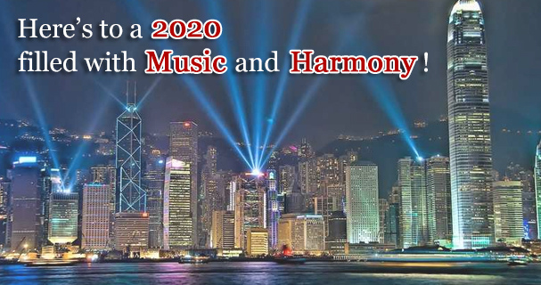 Here's to a 2020 filled with Music and Harmony!