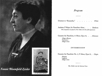 Program from Zeisler's with the Chicago Symphony Orchestra, February 25, 1925. The caption of the picture said it was Zeisler when she was eleven.