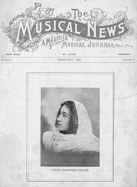 Young Fannie Bloomfield Zeisler on The Musical News, 1898.