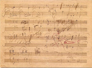 Facsimile of the autograph and first edition of Beethoven's Diabelli Variations Op. 120
