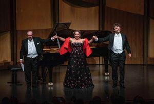 Helmut Deutsch with Diana Damrau, and Jonas Kaufmann