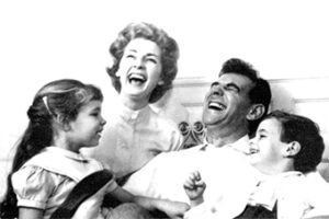Leonard Bernstein with his family