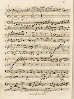 Beethoven's Violin Concerto in D Major, published by Clementi