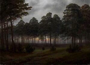 The Evening by by Caspar David Friedrich