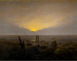 Moonrise over the Sea by Caspar David Friedrich
