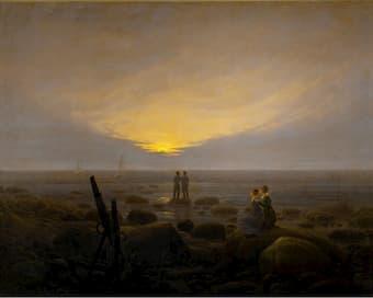 Moonrise over the Sea by Caspar David Friedrich