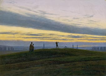 The evening star by Caspar David Friedrich