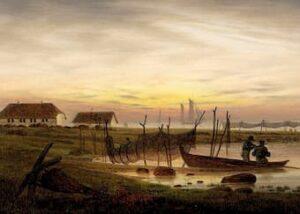 Coastline in the evening light or Coastline at dusk by Caspar David Friedrich