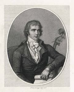 Engraving of Dragonetti in 1795 by Fransesco Bartolozzi