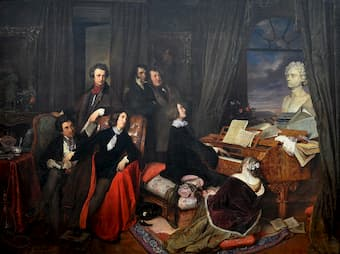 Liszt at the Piano</em> by Josef Danhauser