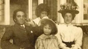 Samuel Coleridge-Taylor with his family