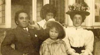 Samuel Coleridge-Taylor with his family