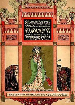 Busoni's Turandot Suite score cover