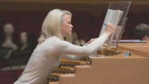 Iveta Apkalna during rehearsal