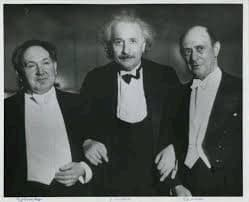 From the left: Leopold Godowsky, Albert Einstein and Arnold Schoenberg Credit: Center for Jewish History's digital collections