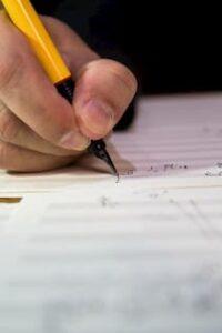 Writing out sheet music