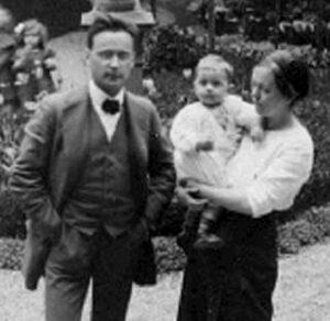 Anton Webern with Minna and Mali