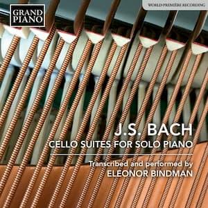 J.S. Bach Cello Suites for Solo Piano Album Cover