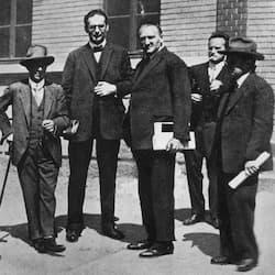 Arnold Schoenberg, Otto Klemperer, Hermann Scherchen, Anton Webern and Erwin Stein