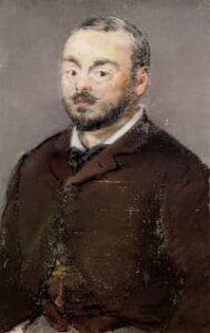 Portrait of Emmanuel Chabrier by Edouard Manet, 1880